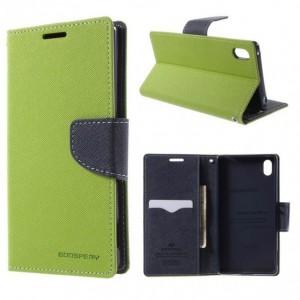 Sony Xperia Z3+ - etui na telefon i dokumenty - Fancy zielone