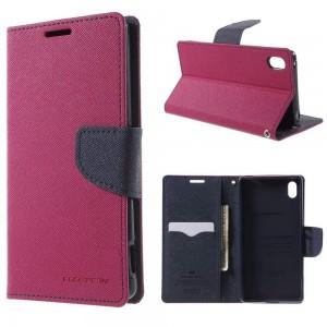 Sony Xperia Z3+ - etui na telefon i dokumenty - Fancy różowe