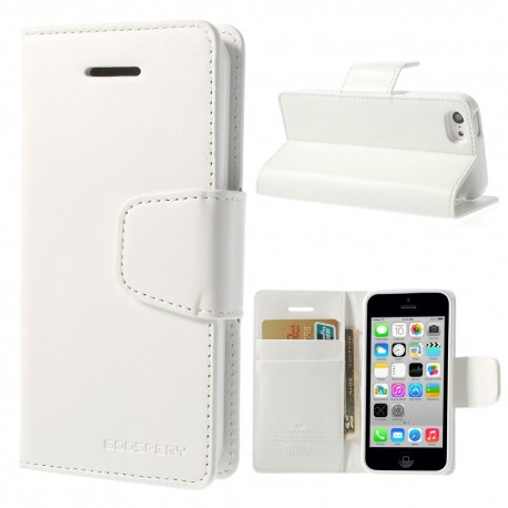 Apple iPhone 5C - etui na telefon i dokumenty - Sonata białe