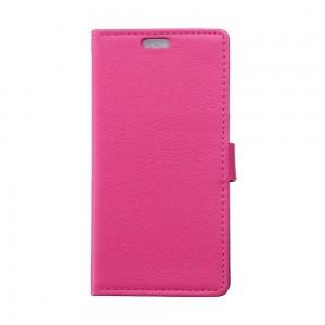 Samsung Galaxy Xcover 3 - etui na telefon i dokumenty - Litchi różowe