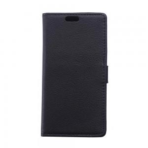 Samsung Galaxy Xcover 3 - etui na telefon i dokumenty - Litchi czarne