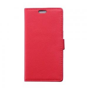 Huawei P8 Lite - etui na telefon i dokumenty - Litchi czerwone