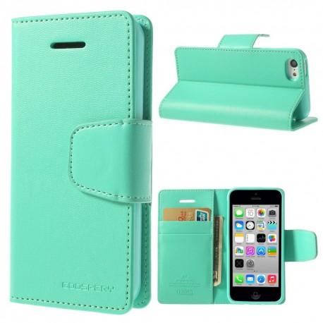 Apple iPhone 5C - etui na telefon i dokumenty - Sonata cyjan