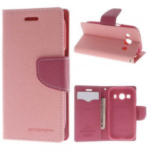 Samsung Galaxy Ace 4 - etui na telefon i dokumenty - Fancy różowe