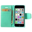 Apple iPhone 5C Portfel Etui – Sonata Cyjan