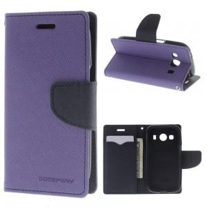 Samsung Galaxy Ace 4 - etui na telefon i dokumenty - Fancy purpurowe