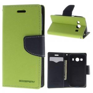 Samsung Galaxy Ace 4 - etui na telefon i dokumenty - Fancy zielone