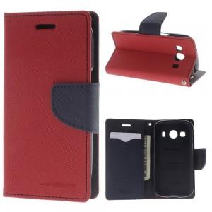 Samsung Galaxy Ace 4 - etui na telefon i dokumenty - Fancy czerwone