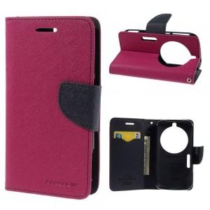Samsung Galaxy K zoom - etui na telefon i dokumenty - Fancy różowe