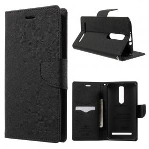 Asus Zenfone 2 ZE551ML - etui na telefon i dokumenty - Fancy czarne