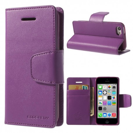 Apple iPhone 5C - etui na telefon i dokumenty - Sonata purpurowe