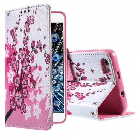 Huawei Honor 6 - etui na telefon i dokumenty - Kwiaty 2