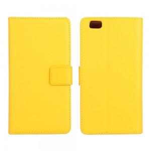 Huawei P8 Lite - etui na telefon i dokumenty - żółte
