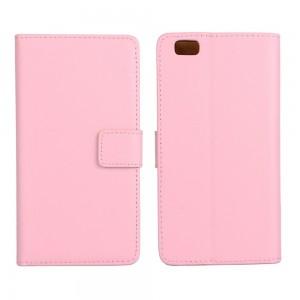 Huawei P8 Lite - etui na telefon i dokumenty - różowe
