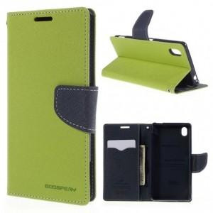 Sony Xperia M4 Aqua - etui na telefon i dokumenty - Fancy zielone