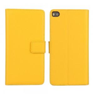 Huawei P8 - etui na telefon i dokumenty - żółte