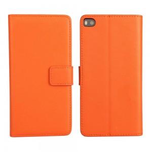 Huawei P8 - etui na telefon i dokumenty - pomarańczowe