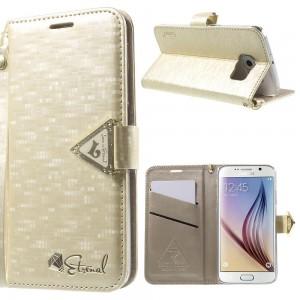 Samsung Galaxy S6 - etui na telefon i dokumenty - Leiers Eternal złote