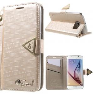 Samsung Galaxy S6 - etui na telefon i dokumenty - Leiers Eternal różowe