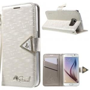 Samsung Galaxy S6 - etui na telefon i dokumenty - Leiers Eternal białe