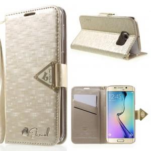 Samsung Galaxy S6 Edge - etui na telefon i dokumenty - Leiers Eternal złote