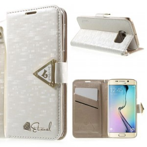 Samsung Galaxy S6 Edge - etui na telefon i dokumenty - Leiers Eternal białe V