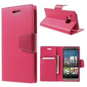 HTC One M9 - etui na telefon i dokumenty - Sonata ciemnoróżowe