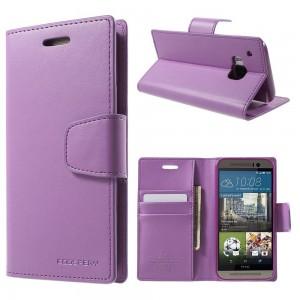 HTC One M9 - etui na telefon i dokumenty - Sonata purpurowe
