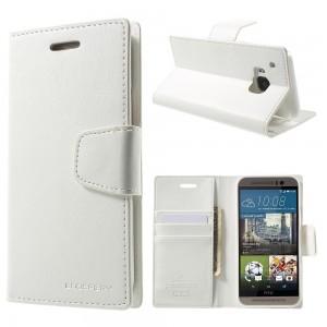 HTC One M9 - etui na telefon i dokumenty - Sonata białe