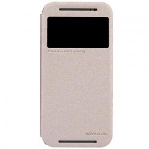 HTC One M8 - etui na telefon - Nillkin Sparkle złote