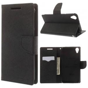 HTC Desire 820 - etui na telefon i dokumenty - Fancy czarne