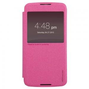 Alcatel One Touch Idol 3 5.5″ - etui na telefon - Nillkin Sparkle różowe