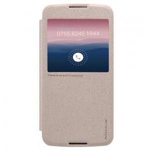 Alcatel One Touch Idol 3 5.5″ - etui na telefon i dokumenty - Nillkin Sparkle złote