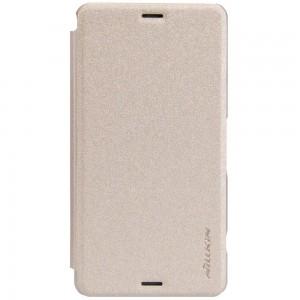 Sony Xperia Z3 Compact - etui na telefon - Nillkin Sparkle złote