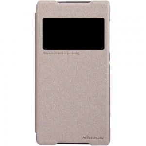 Sony Xperia Z2 - etui na telefon - Nillkin Sparkle złote