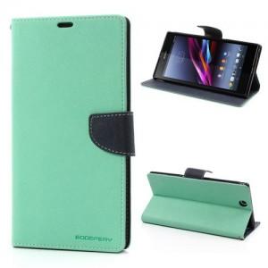 Sony Xperia Z Ultra - etui na telefon i dokumenty - Fancy cyjan