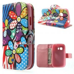 Samsung Galaxy Young 2 - etui na telefon i dokumenty - Kwiaty 1